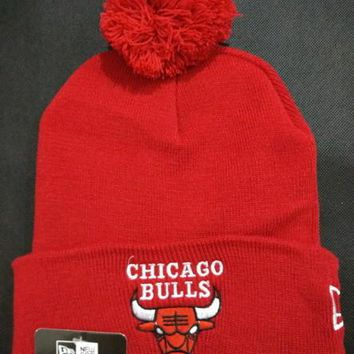 Chicago bulls Women Men Embroidery Beanies Knit Hat Cap-15