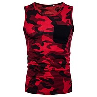 Running Vests Jogging NIBESSER Brand Camouflage  Men Fitness Training Gym Bodybuilding Summer Sleeveless Tank Top Quick Dry Tee Shirts KO_11_1
