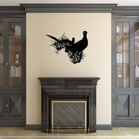 Pheasants in Grass Style B Vinyl Wall Decal 22420