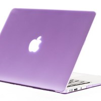 "Kuzy - AIR 13-inch Light PURPLE Rubberized Hard Case for MacBook Air 13.3"" (A1466 & A1369) (NEWEST VERSION) Shell Cover - Light Purple"