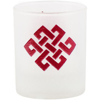 Etched Glass Square Celtic Knot Votive Candle Holder