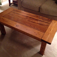 Handmade Farmhouse Rustic Style Coffee Table Reclaimed Lumber Upcycled