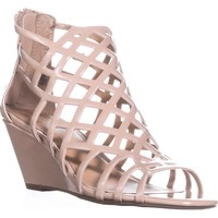 MG35 Henie Caged Wedge Sandals, Nude, 5.5 US