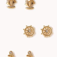 FOREVER 21 Nautical Stud Set Gold One