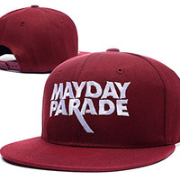 RHXING Mayday Parade Logo Adjustable Snapback Embroidery Hats Caps - Red