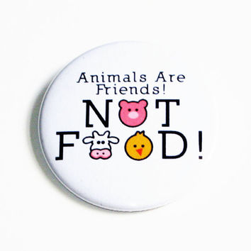 Vegetarian Buttons Animals Pinback Buttons Vegan Buttons