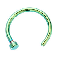 18G Emerald Anodized Titanium-Plated Nose Hoop Ring at FreshTrends.com