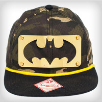 Batman Gold Metal & Camo Snapback Hat