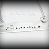 Hand Stamped Jewelry Personlized Name Necklace - Celebrity Inspired Jewelry