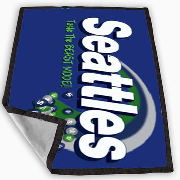 skittles seattle seahawks Blanket for Kids Blanket, Fleece Blanket Cute and Awesome Blanket for your bedding, Blanket fleece *