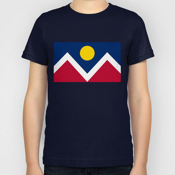 Denver (Colorado) city flag - Authentic version Kids T-Shirt by LonestarDesigns2020 - Flags Designs + | Society6