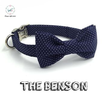 Personal Dot Dog Collar Bow Tie