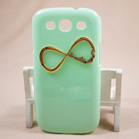 Handmade one direction case for SAMSUNG Galaxy SIII s3 I9300 hard cover, mint green Case