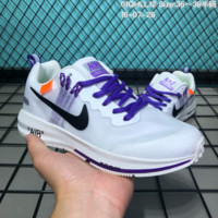 HCXX N182 OFF-White x Nike Air zoom Structure 21 Flyknit Breathable Running Shoes White Purple