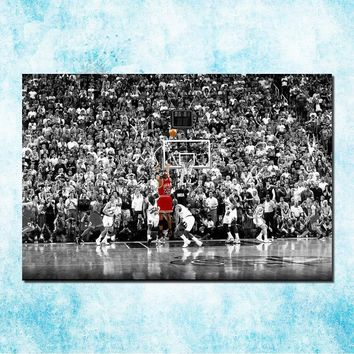 Michael Jordan Shoes MJ 23 Chicago Bulls NBA MVP Basketball Silk Canvas Poster 13x20 24x36inch Picture For Room Decor (more)-6