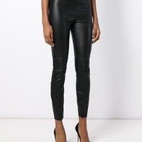 Dolce & Gabbana Leather Leggings - Stefania Mode - Farfetch.com