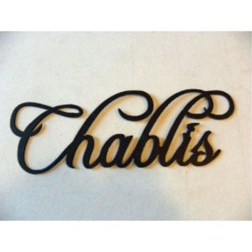 Chablis Wine Word Metal Wall Art Home Kitchen Decor