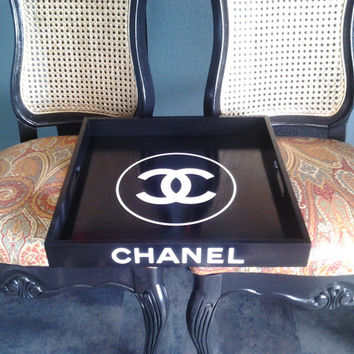 Chanel or HERMES square designer serving tray. 16 x 16 large.