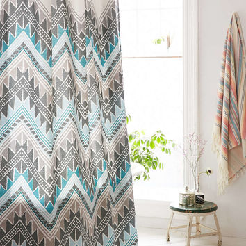 Magical Thinking Keely Chevron Shower Curtain