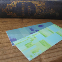 Mini Bookmarks (Set of 4 ), Small Art Reproduction, of  Dividing Boxes Algorithm, Stocking Suffers  --set 2