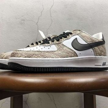"[ Free  Shipping ]Nike Air Force 1 Low ""Cocoa Snake"" 845053-104 Running Sneaker"