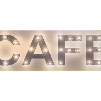 """Marquee Light-up """"Cafe"""" Sign, Signs"""