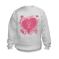 Pink Hearts and ribbon Breast Sweatshirt> Pink Hearts and ribbon Breast Cancer Awareness> Enchanted Treasures