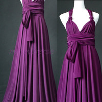 Purple Bridesmaid Dress Maxi Dress Infinity Dress Plus Size Convertible Dress Formal Dress Women