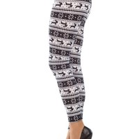 Spring Fever Fashion Funky Print Stretch Leggings Seamless Full Length Yoga Pants (Snowflake Print)
