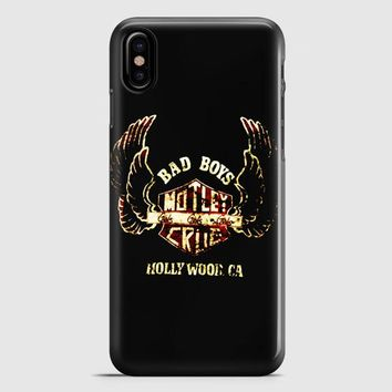 Motley Crue TShirt Tommy Lee American Rock Live Concert iPhone X Case