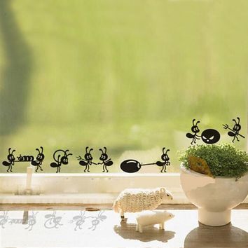 Creative Ants Move Home Decor Funny Wall Decals For Kids Rooms Window Decoration Kitchen Wall Stickers
