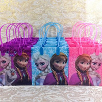12x Disney Frozen Goodie Bags Party Favor Bags Gift Bags Birthday Bags