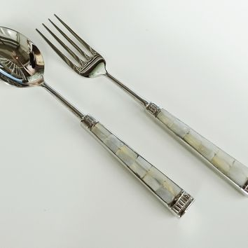 Mother of Pearl Shell Serving Set