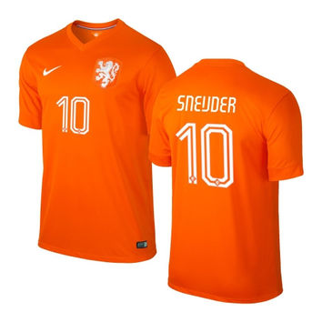 Sneijder #10 Holland Nike Youth 2014 World Soccer Replica Home Jersey - Orange - http://www.shareasale.com/m-pr.cfm?merchantID=7124&userID=1042934&productID=548697479 / Netherlands