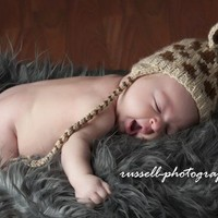 Baby Giraffe Knitted Hat Photo Prop Newborn to 3 months