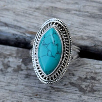 turquoise ring, turquoise stone ring, silver ring, stone ring, 92.5 sterling silver, Turquoise Silver Ring,Christmas ring,  RNSLTR221