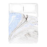 Grey Marble Duvet Cover