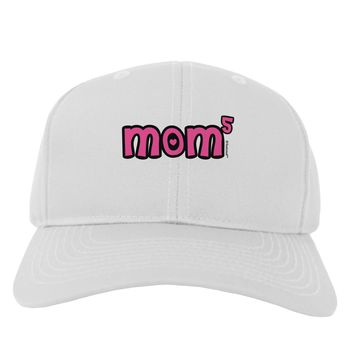 Mom to the Fifth Power - Cute Mom of 5 Design Adult Baseball Cap Hat by TooLoud