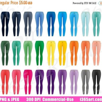 50% OFF Sale Pants Clipart, Jeans Clip Art, Fashion Clothing, Women's Wear, Fashion Graphics, Clothes, Planner Sticker Icons, Commercial