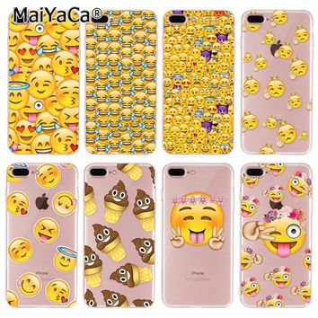 MaiYaCa  phone case for iphone 8 plus case cute Emoji Smiley Emoticons silicone cover For iPhone 8 plus Case