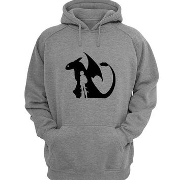 how to train your dragon Hoodie Sweatshirt Sweater Shirt Gray for Unisex size with variant colour