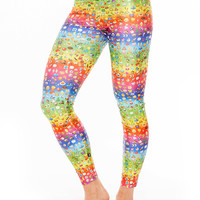 Womens Emoji Rainbow Leggings