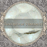 TURQUOISE STARDUST Mineral Eyeshadow: 5g Sifter Jar, Iridescent Silver Turquoise, Vegan Cosmetics, Shimmer Eyeshadow
