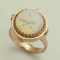 Rose gold with a moonstone ring Snow white by artisanimpact
