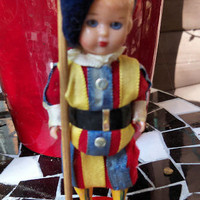 RICORDO Di ROMA celluloid Blue Eyed Blond Soldier Toy Figurine Vintage Roma