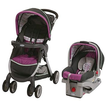 Graco Fastaction Fold Click Connect Travel System Stroller, Nyssa