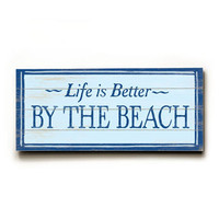 Personalized Life Is Better By The Beach Wood Sign