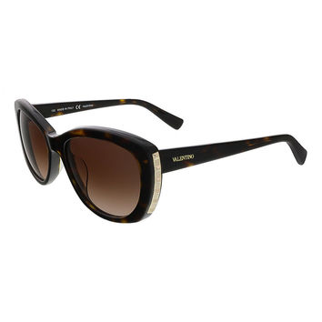 Valentino Dark Havana Cat Eye Valentino Sunglasses