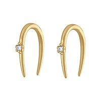 Large Shooting Star Open Hoop Earrings - 16G