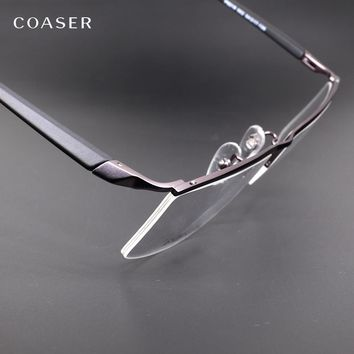 COASER Eyewear Frame Men Computer Clear GlassesOptical Prescription Gafas Designer Eyeglasses Myopia Reading Hipster Spectacles
